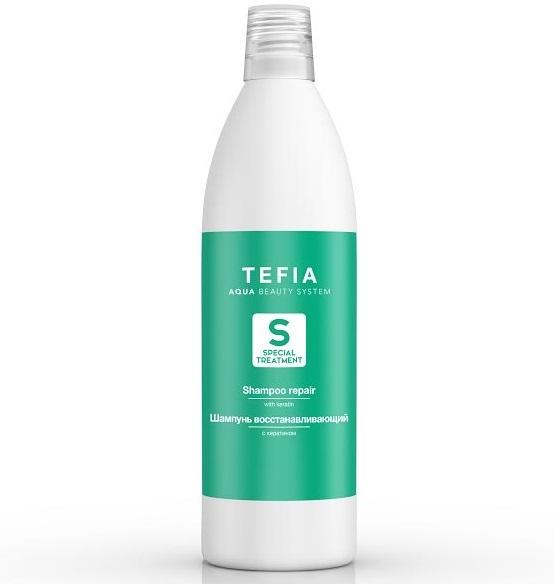 Шампунь восстанавливающий с кератином, Tefia, 1000 мл