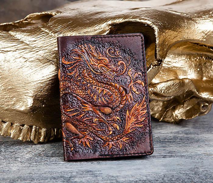 BC178 Необычная обложка для паспорта с китайским драконом
