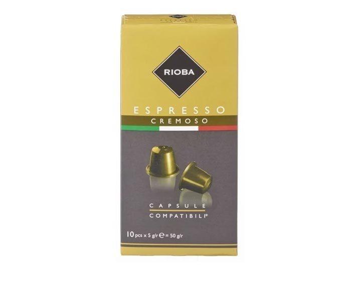 Кофе в капсулах Rioba Espresso Cremoso, 10 капсул для кофемашин Nespresso