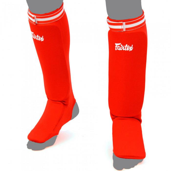 Защита ног Щитки Fairtex Fabric Shin Pads SPE1 Red 1.jpg