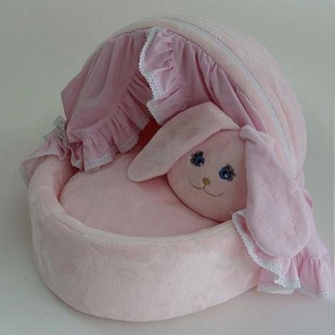 розовая лежанка для собак