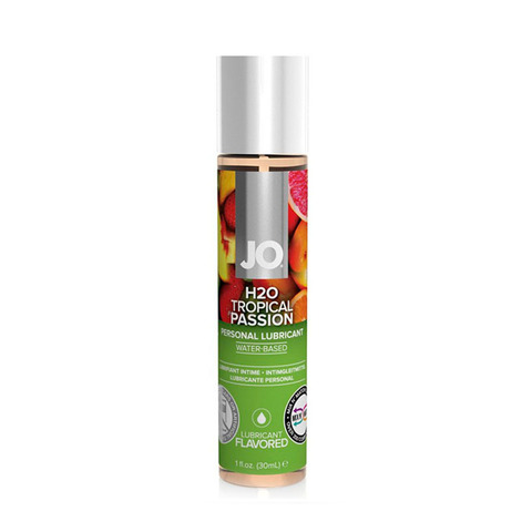 JO H2O Flavored Tropical Passion, 30 ml Ароматизированный лубрикант Тропический на водной основе
