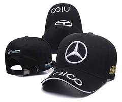 Кепка с вышитым логотипом Мерседес Формула-1 NICO (Кепка Mercedes-Benz F-1 AMG Petronas NICO) черная