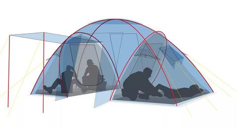 Палатка Canadian Camper SANA 4 PLUS, цвет royal, схема 3.