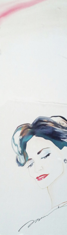 Шелковый шарф батик Ирен Адлер С-57