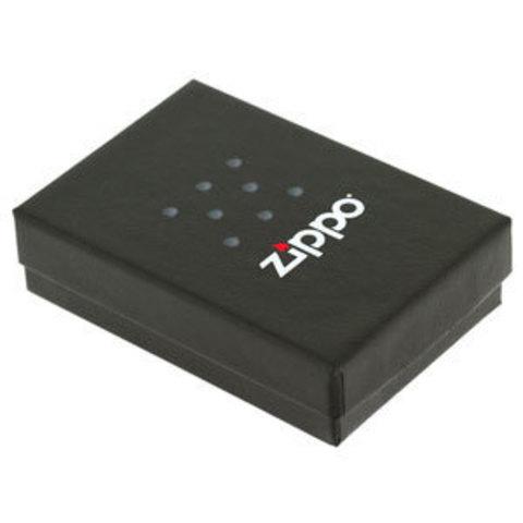 Зажигалка Zippo Classic с покрытием Black Ice, латунь/сталь, чёрная, глянцевая, 36x12x56 мм123