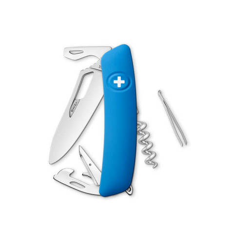 Швейцарский нож SWIZA SH03 R Standard, 95 мм, 11 функций, синий