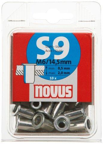Заклепки потайные S9*14,5мм NOVUS