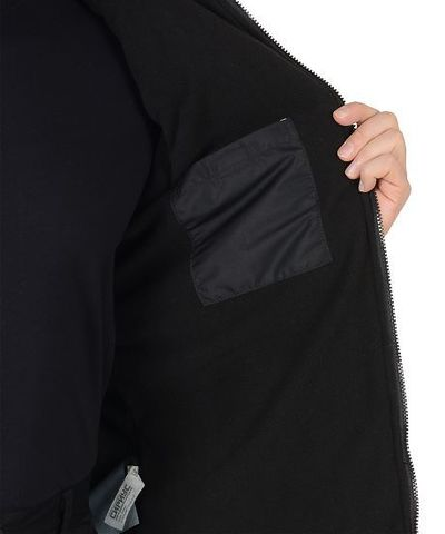 Куртка  мужская, с капюшоном, черный
