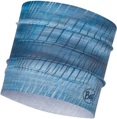 Широкая спортивная повязка на голову Buff Headband Wide CoolNet Keren Stone Blue