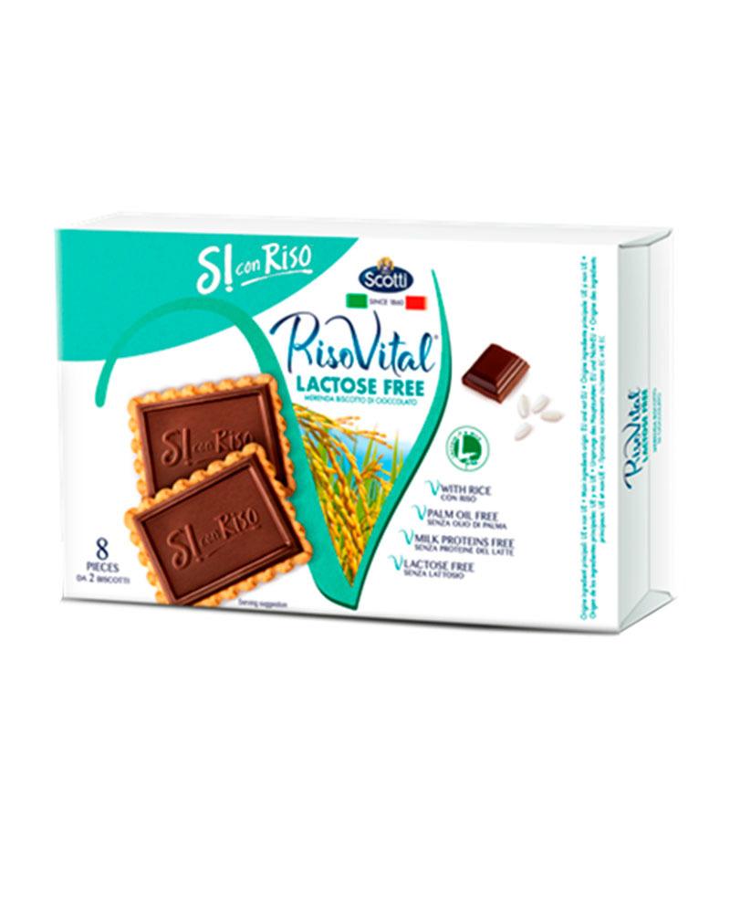 Печенье Riso Scotti рисовое с шоколадом безлактозное 200 гр.