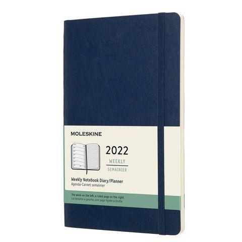 Еженедельник Moleskine (DSB2012WN3) Classic Soft WKNT Large 130х210мм 144стр. мягкая обложка синий сапфир