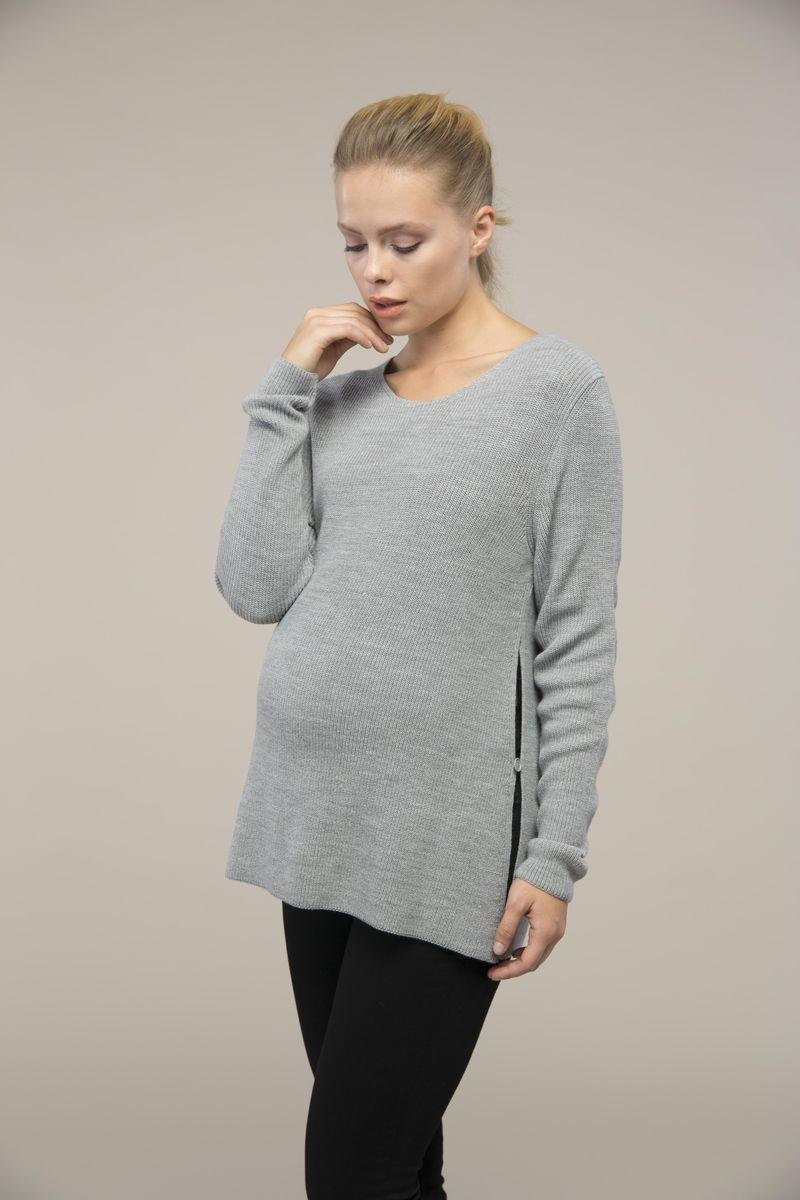 Свитер для беременных 08996 серый