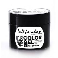 In'Garden, гель-краска для ногтей 003, снежник, 5 гр.