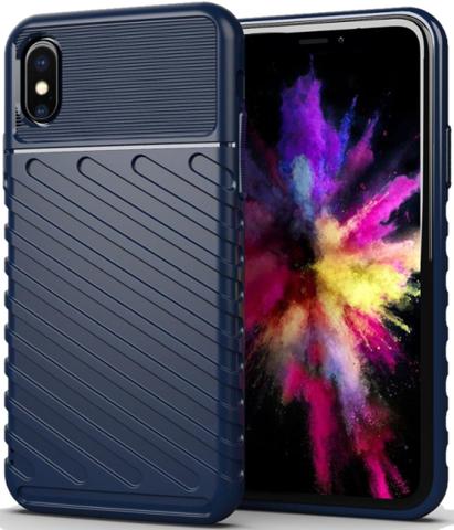 Чехол для iPhone X (XS) цвет Blue (синий), серия Onyx от Caseport
