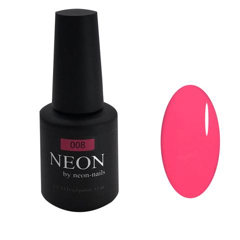 NEON, гель-лак Rose № 008 , (12 ml) неоновый розовый