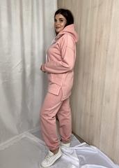 Нора. Теплий костюм з трьохнитки великих розмірів. Пудра