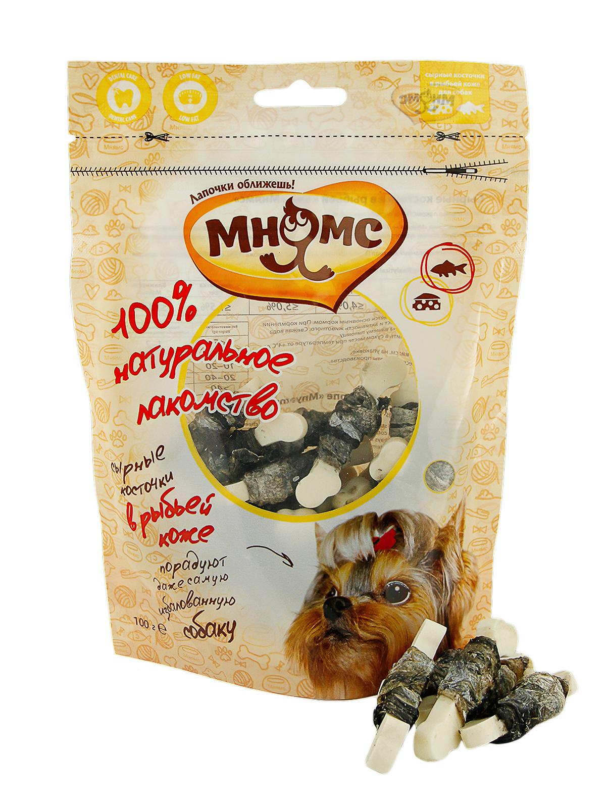 Мнямс Лакомство для собак Мнямс сырные косточки в рыбьей коже 701832_1.jpg