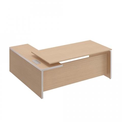 Стол руководителя с брифинг приставкой боковой правой (200x180x76)