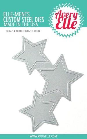 Набор ножей - Elle-Ments Dies Three Stars