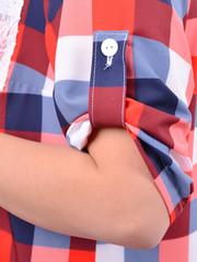 Мірей. Модна сорочка плюс сайз. Червоний.