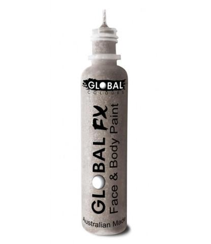 Гель-блестки Global 36 мл голографические серебряные