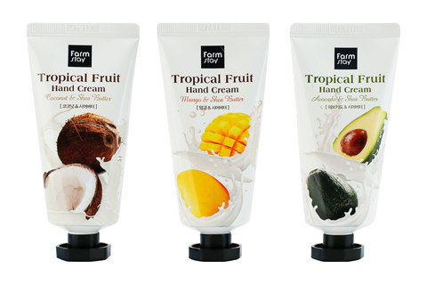 FARM STAY Tropical Fruit Hand Cream::Mango & Shea Butter,Avocado & Shea Butter,Coconut & Shea Butter  Крем для рук тропические фрукты: манго и маслом ши,авокадо и маслом ши,кокос и маслом ши