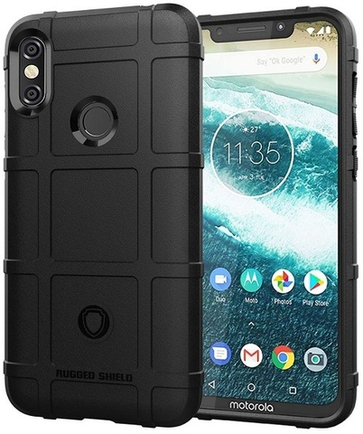 Чехол для Motorola Moto One Power (P30 Note) цвет Black (черный), серия Armor от Caseport