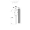 Монтажные размеры крепления ESC-10 ESCAP на стену