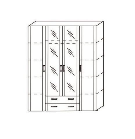 8.04 шкаф 4-х  дверный