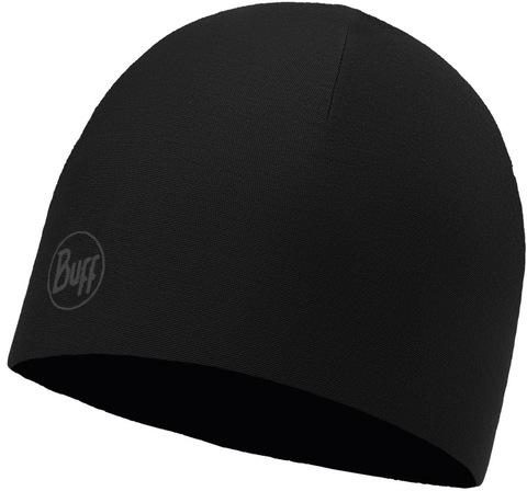 Двухслойная полиэстровая шапка Buff Hat reversible polyester R-Solid Black фото 1