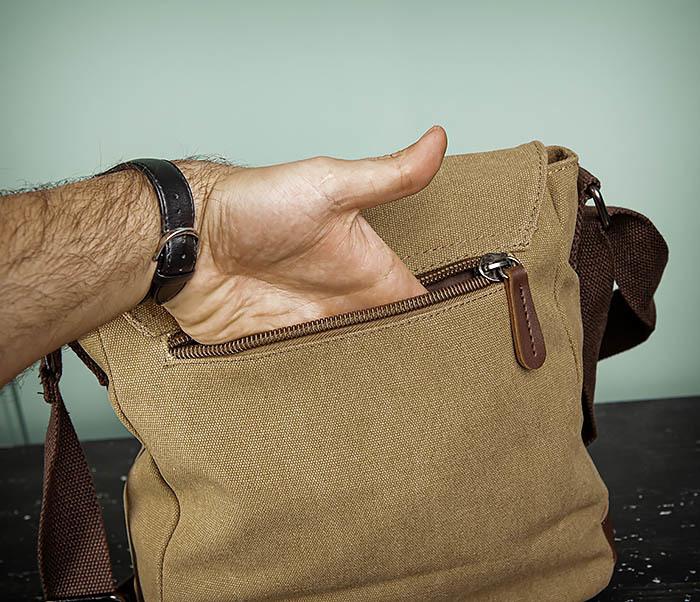 BAG503-2 Мужская сумка планшет из плотной ткани фото 08
