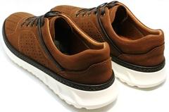 Кроссовки коричневого цвета мужские Vitto Men Shoes 1830 Brown White