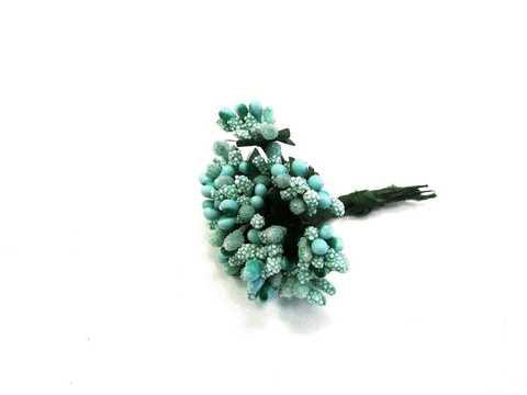 Букетики тычинок, цвет Аквамарин