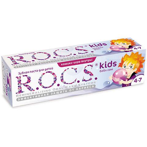 Детская зубная паста R.O.C.S. Kids 4-7 (Бабл Гам)