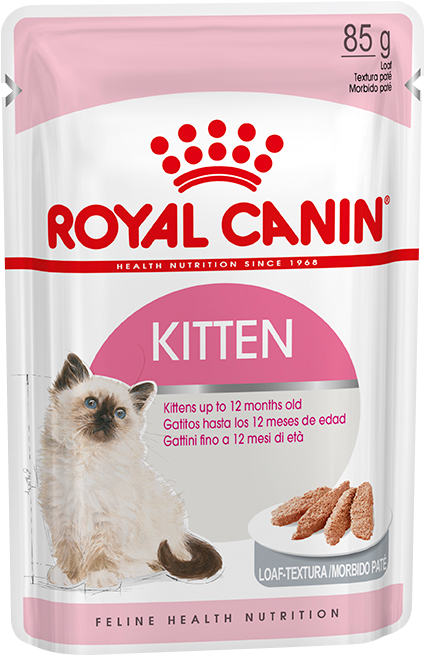 Royal Canin Пауч для котят с 4 до 12 месяцев, Royal Canin Kitten Instinctive (в паштете) d_kitten_in_loaf.png