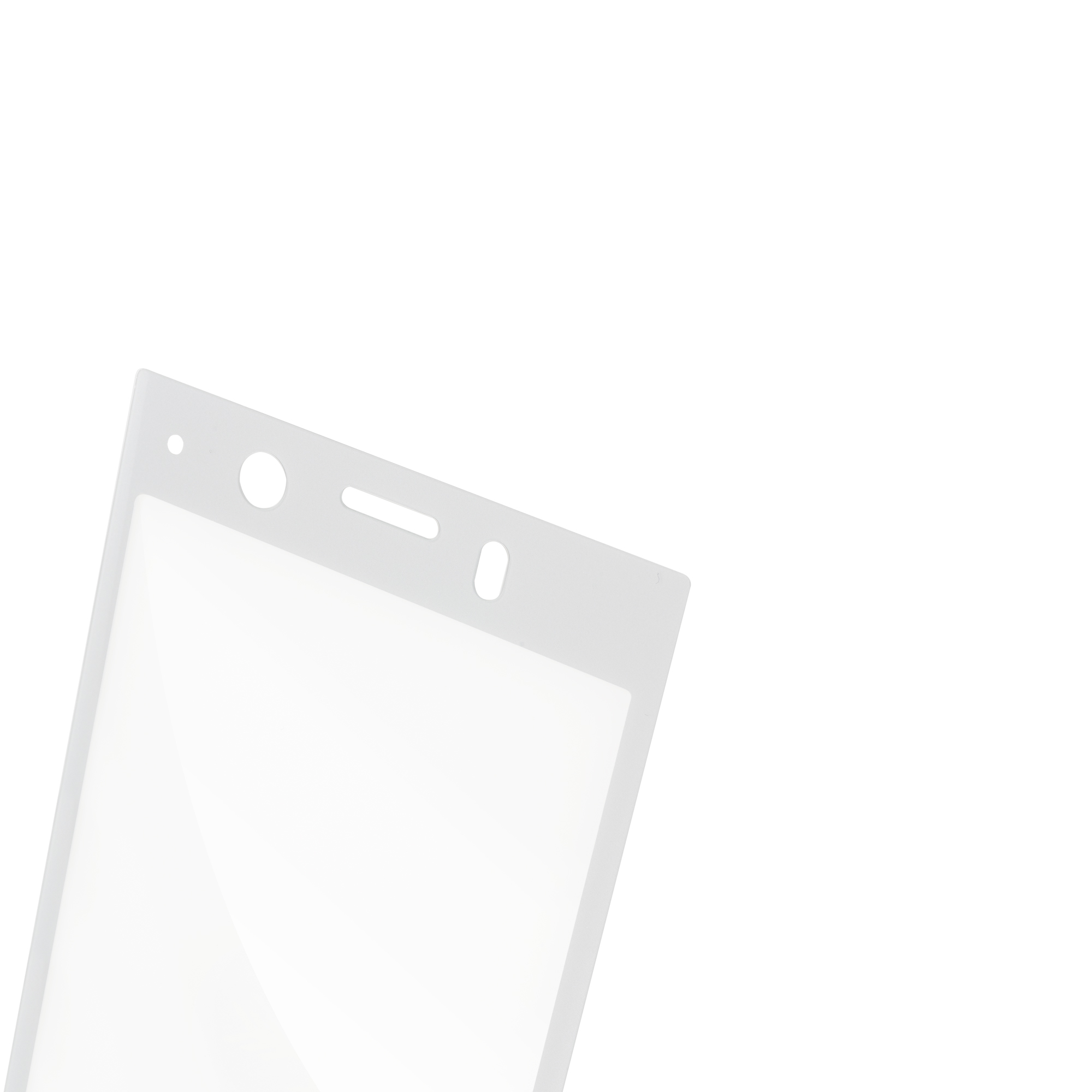 Защитное стекло серебристое для Xperia XZ1 Compact