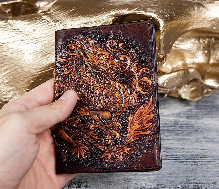 BC178 Необычная обложка для паспорта с китайским драконом фото 05
