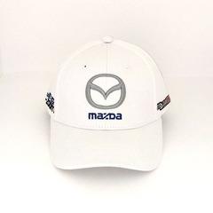 Кепка с вышитым логотипом Мазда (Кепка MAZDA) белая