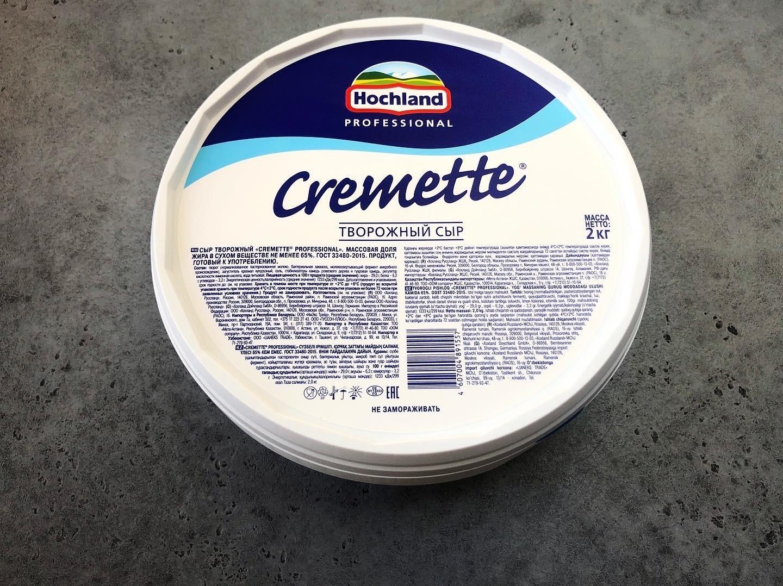 Сыр творожный Cremette Hochland, 2 кг