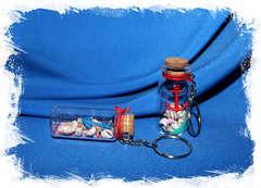 Бутылочка с морскими ракушками