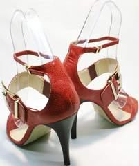 Стильные босоножки на каблуке шпильке Via Uno1103-6605 Red.