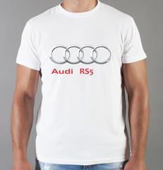 Футболка с принтом Ауди RS (Audi RS) белая 0046