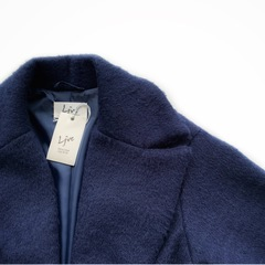 Пальто на пуговицах (Синий)