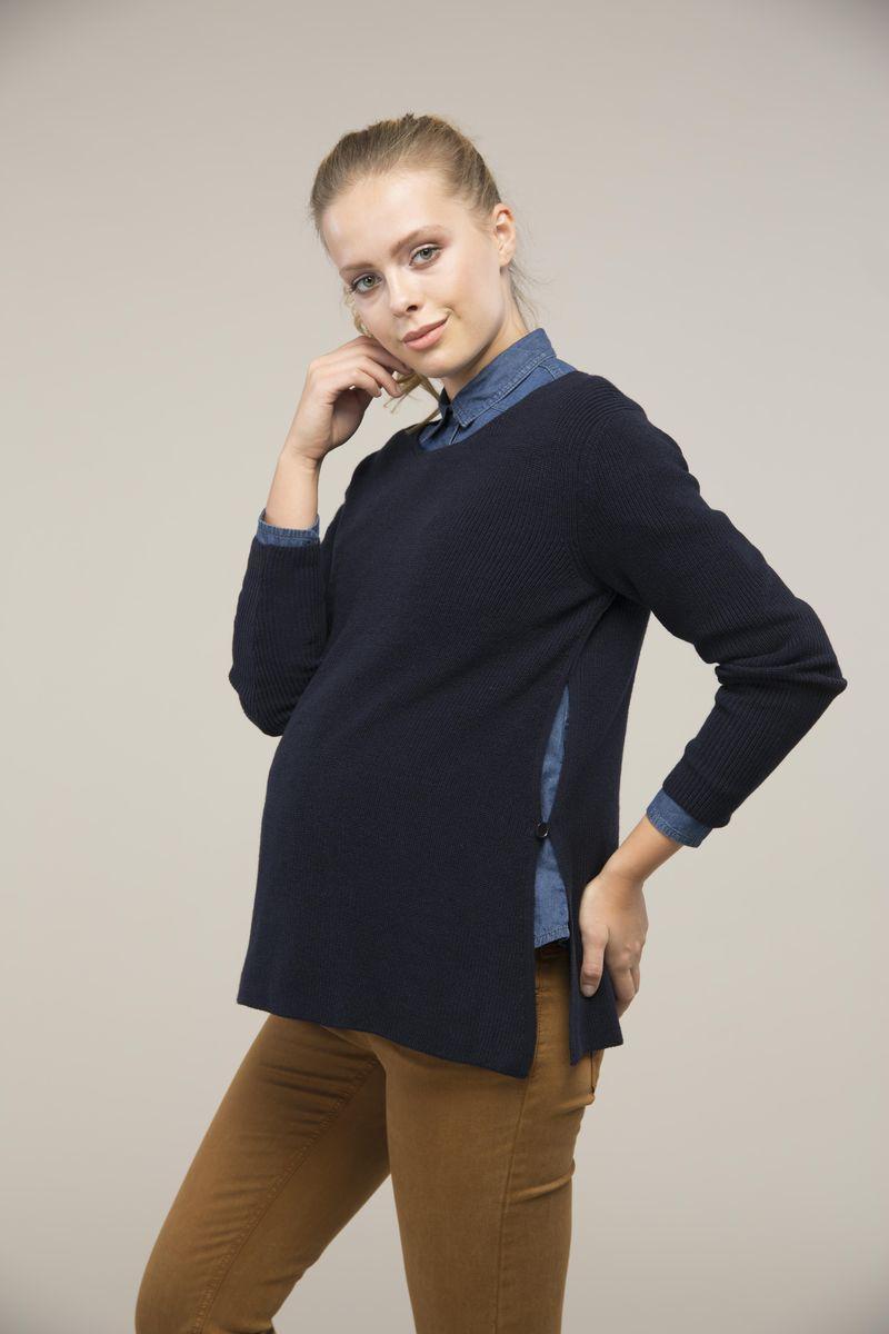 Свитер для беременных 08996 синий