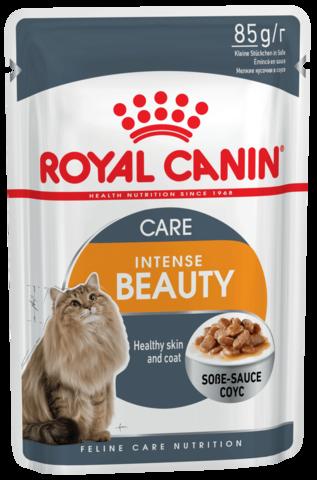 Intense Beauty (в соусе) - для поддержания красоты шерсти кошек 85г.