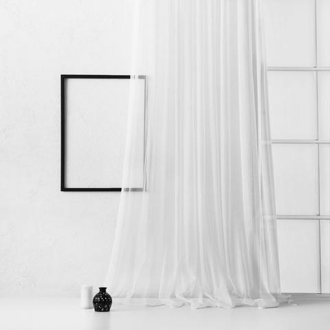 Тюль из сетки с узором Сирена белый