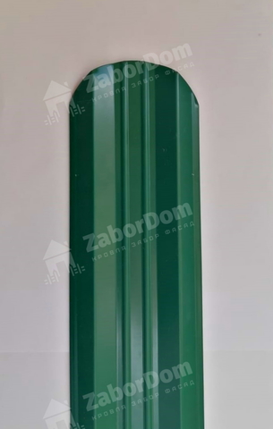 М-образный штакетник металлический 95 мм RAL 6005 двухсторонний 0.5 мм