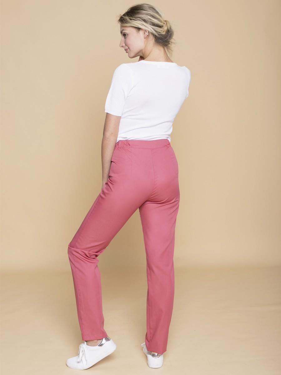 Заказать медицинские  брюки Б-110 пудрово-розовый