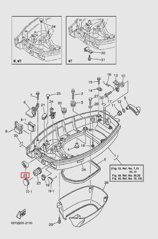 Заглушка для лодочного мотора T40 Sea-PRO (13-22)